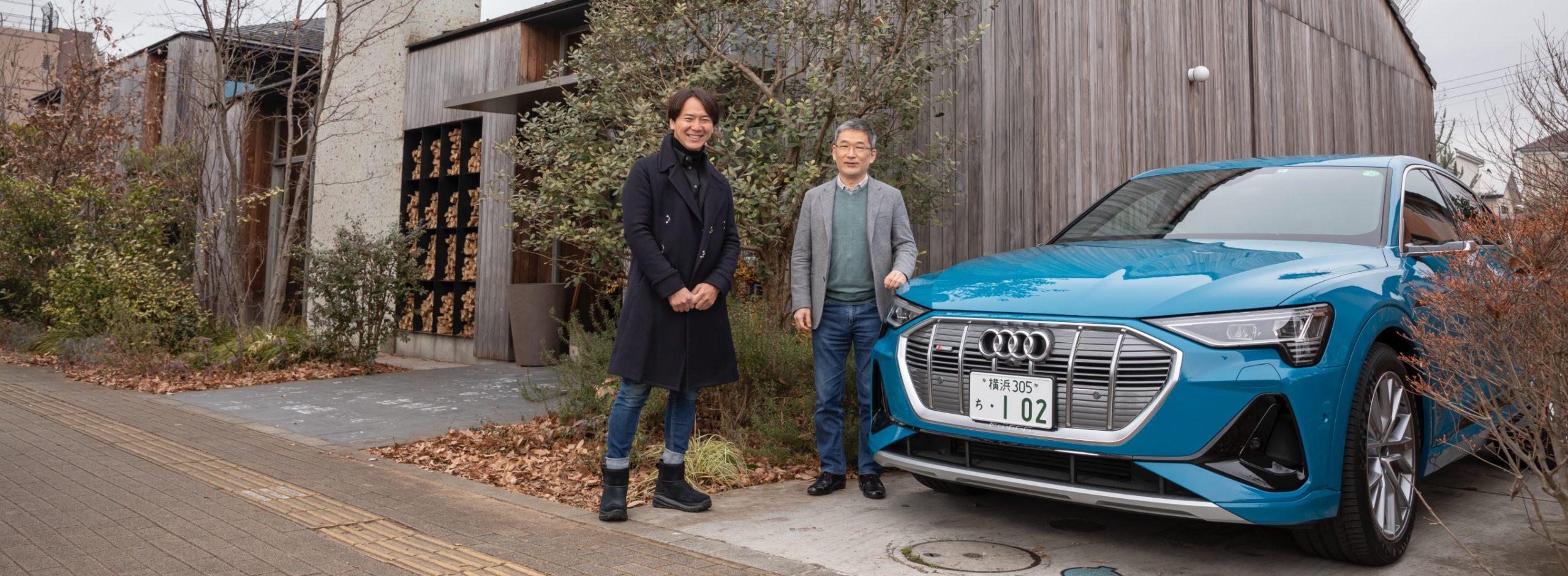アウディの最新EV「e-tron Sportback」で緑豊な薪火料理の店へドライブ